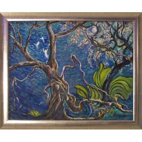 Valódi értékek a természetben rejlenek című festmény
