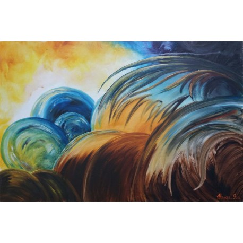 GLOBES modern festmény