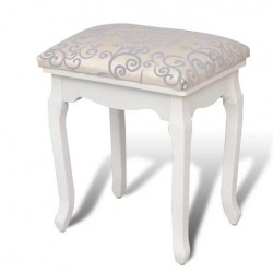 Dressing chair cream white