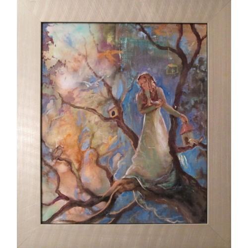 Festmény olaj vászonWall mirror and jewelery shelf