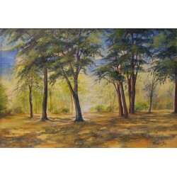 Weaves its light duvet under foliages