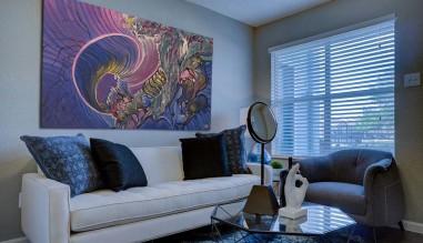 Otthoni lakberendezés - enteriőr festményekkel, faliképekkel
